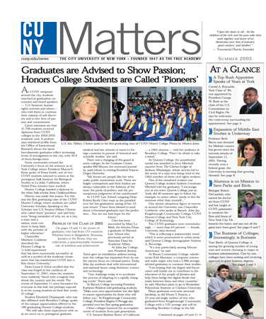CUNY Matters cover for Summer 2005
