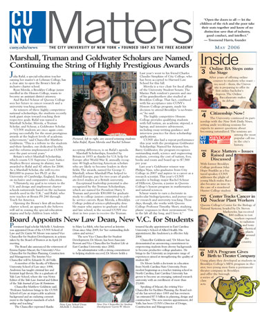 CUNY Matters cover for May 2006