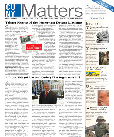 CUNY Matters cover for Spring 2006