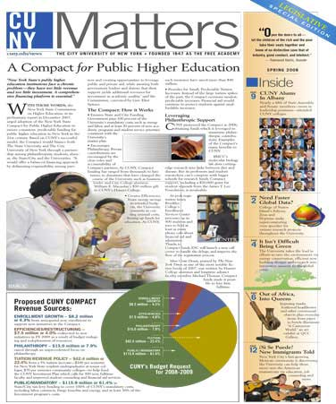 CUNY Matters cover for May 2008