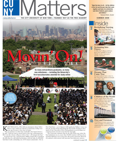 CUNY Matters cover for Summer 2008