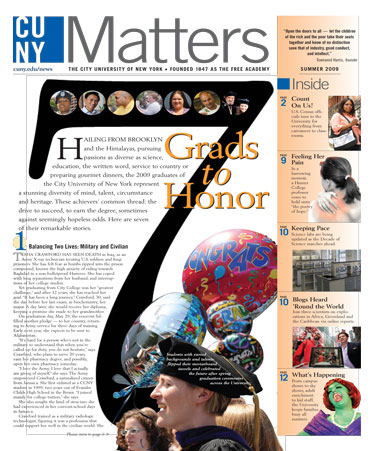 CUNY Matters cover Summer 2009