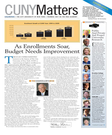 CUNY Matters cover Spring 2010