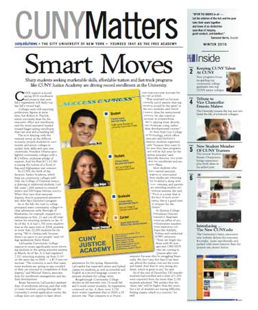 CUNY Matters cover Winter 2010