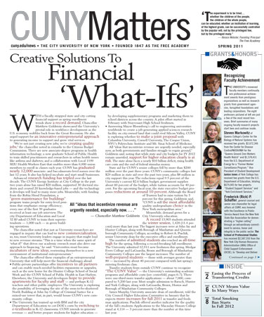 CUNY Matters cover Spring 2011