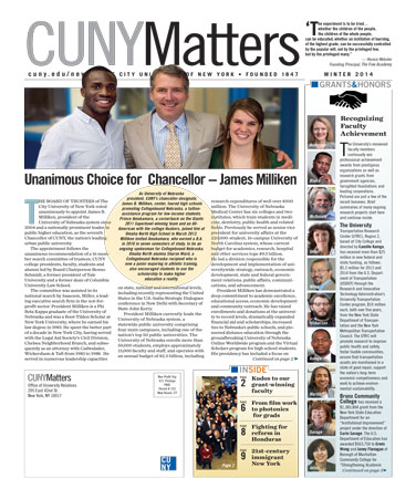 CUNY Matters cover for Winter 2014