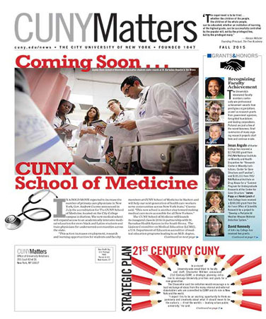 CUNY Matters cover for Fall 2015