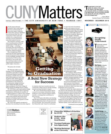 CUNY Matters cover for November 2015