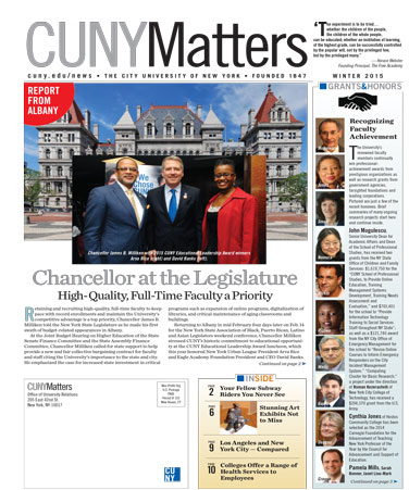 CUNY Matters cover for Winter 2015