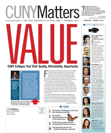 CUNY Matters cover for March 2016