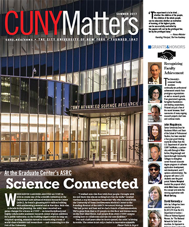CUNY Matters cover for Summer 2017