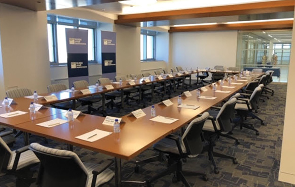 Conference room in the new center at LaGuardia