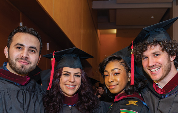 CUNY Craig Newmark Graduate School of Journalism students at the 2018 commencement