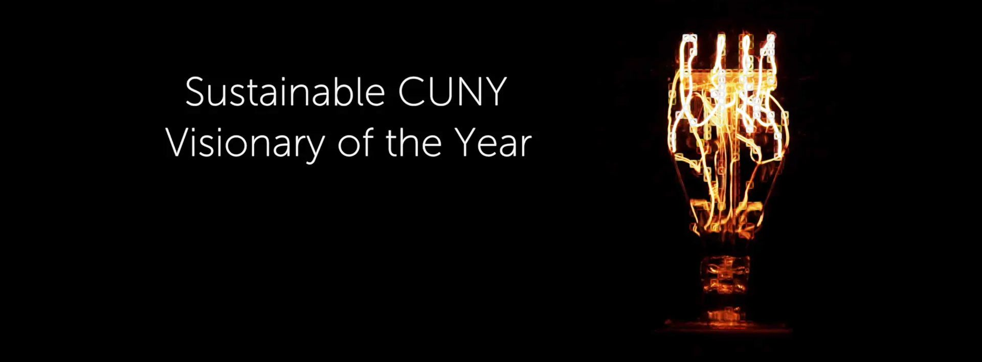 Sustainable CUNY Visionary of the Year
