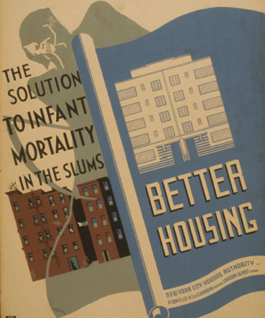 The Solution to Infant Mortality in the Slums: Better Housing, Benjamin Sheer, artist, 1936