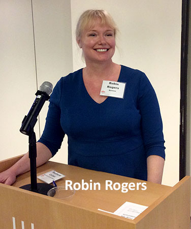 Robin Rogers at podium